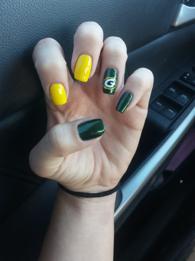 Green Bay packers nails by Linh! - Yelp