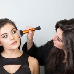 Photo of Chic Studios LA School of Makeup - Los Angeles, CA, United States. Student in Action during photo shoot