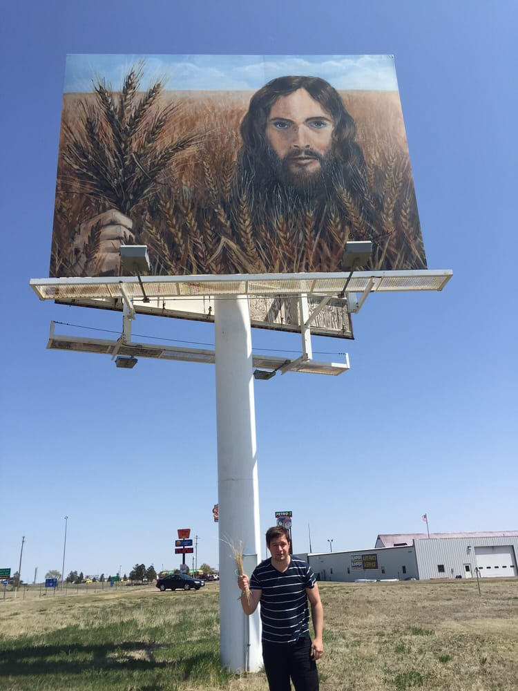 Wheat Jesus: S Range Ave, Colby, KS