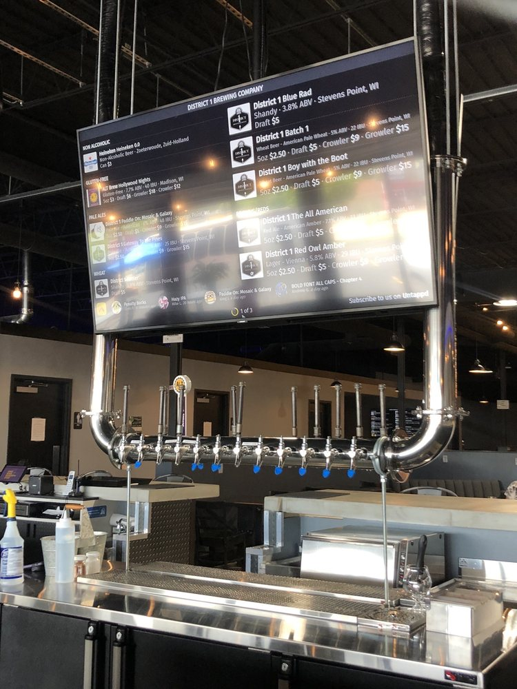 District 1 Brewing Company: 200 N Division St, Stevens Point, WI