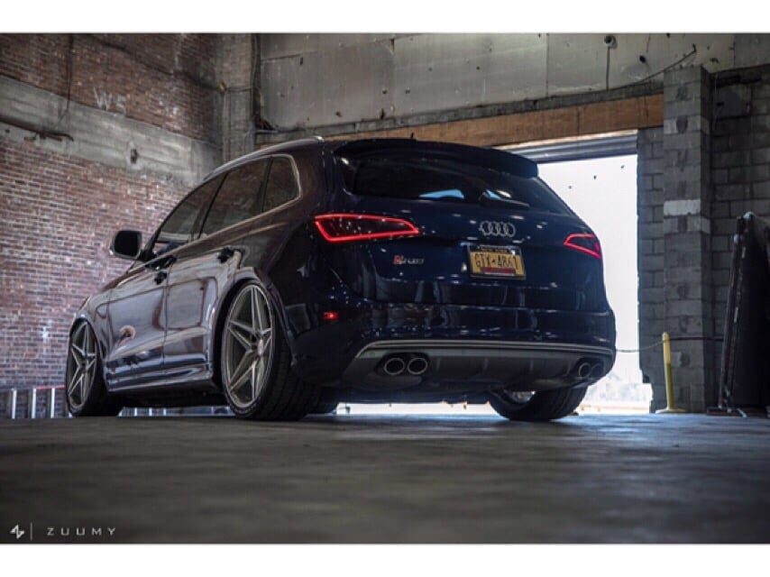 The Audi SQ5 tinted in 20% on the fronts to match factory