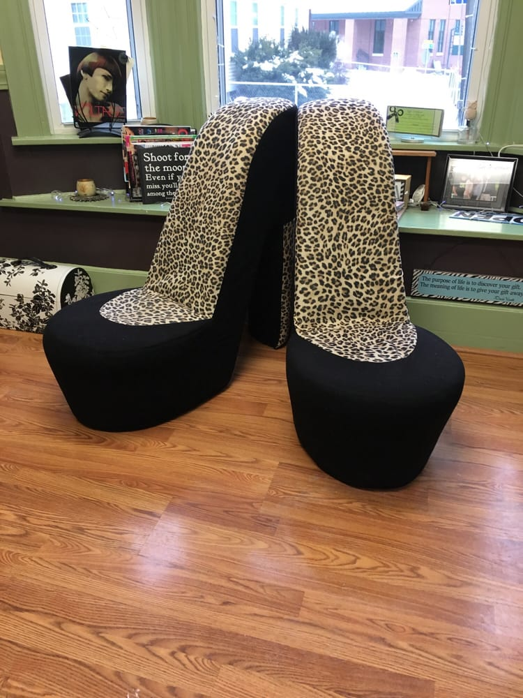 These awesome chairs are fun and comfortable to sit on for Adalia salon westbrook me