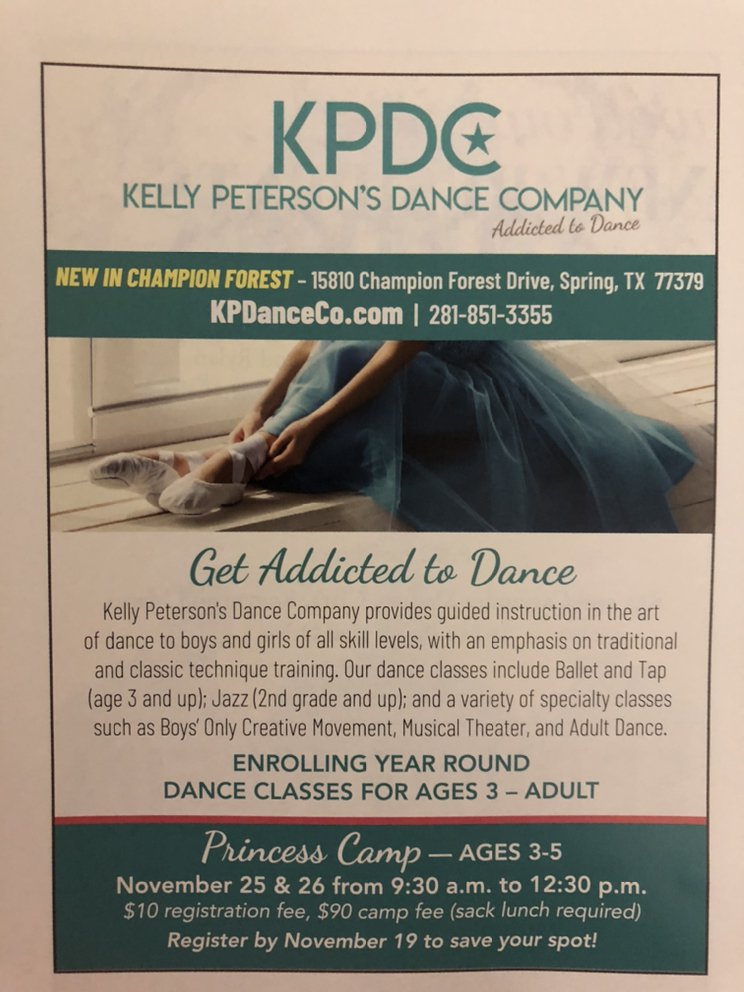 Kelly Peterson's Dance Company: 15810 Champion Forest Dr, Spring, TX