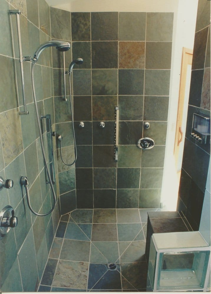 I Designed A Difficult X Slate Shower With Lots Of Plumbing - 4 x 6 tile shower