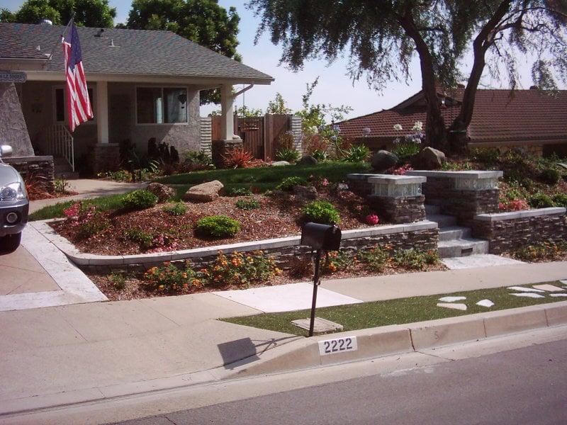 Front Yard Landscape Hardscape Makeover Yelp