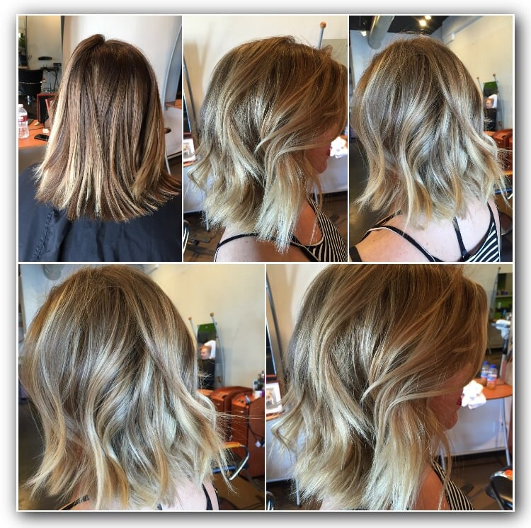 Beach Waves Blonde Balayage Ombre Highlights West Hollywood Los