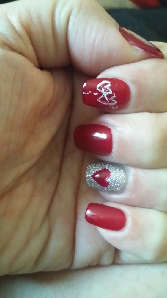 My Valentine\'s nails done by Dana. Magic Nails are THE BEST! ! ! - Yelp