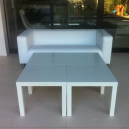 event wedding party lounge furniture rental ottomans