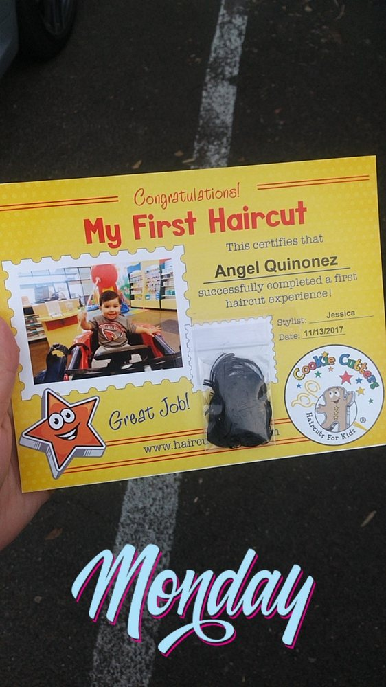 The Babys First Hair Cut Certificate Yelp