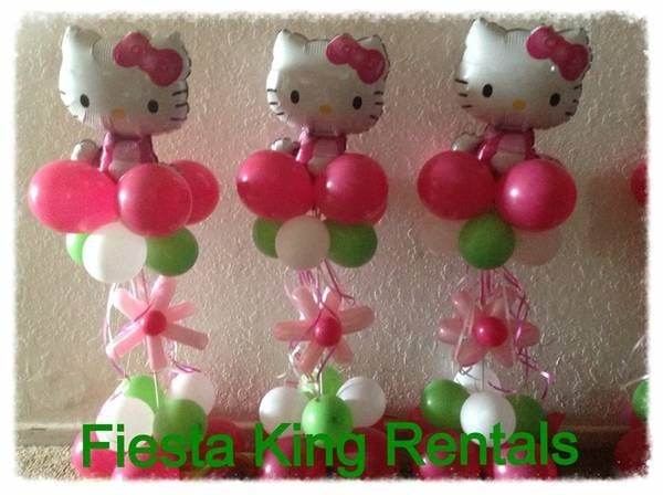 Hello kitty balloon centerpieces and party decoration