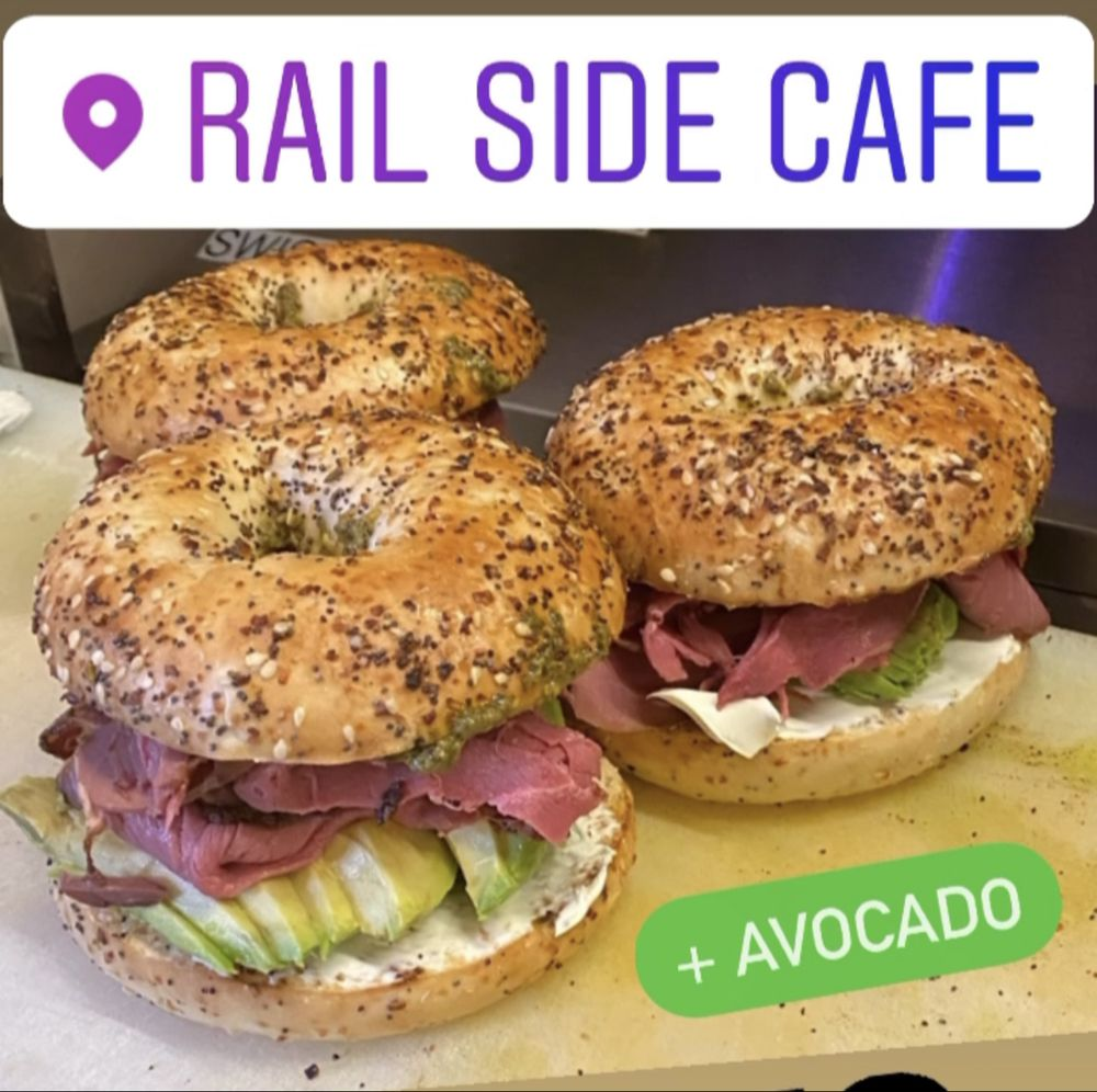 Food from Rail Side Cafe
