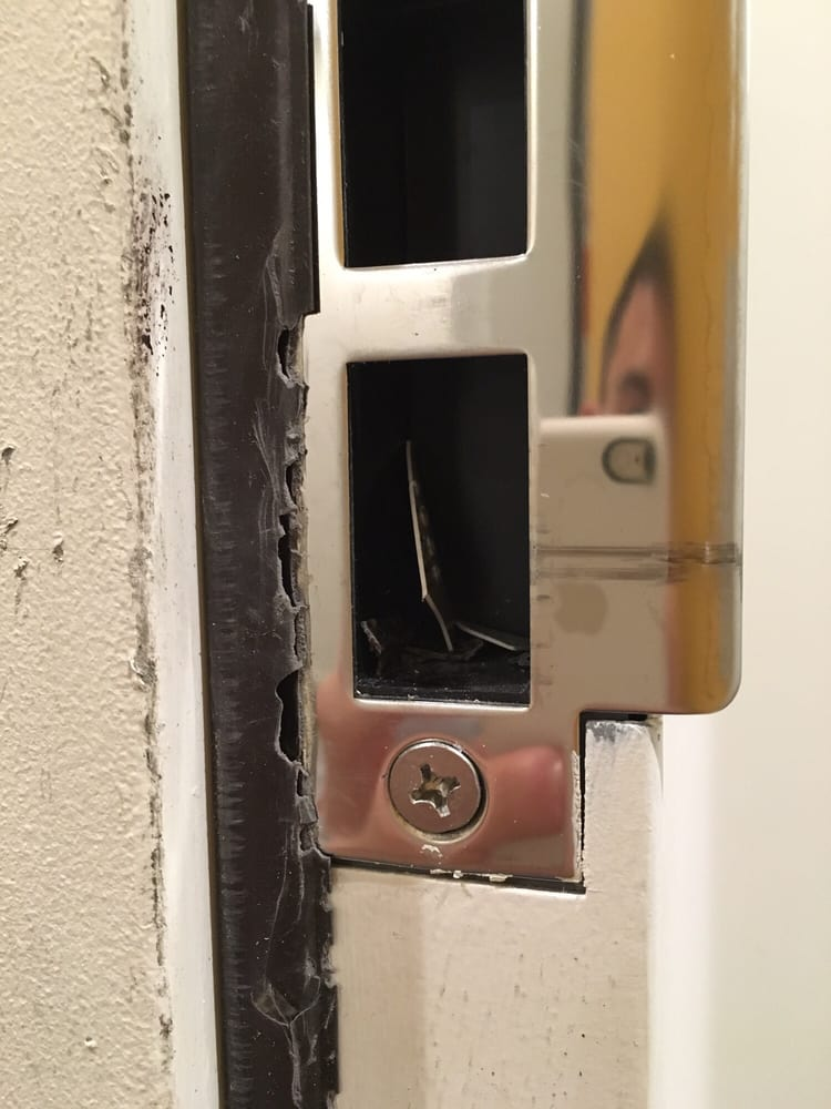 Photo of Locksmith Tech - San Francisco CA United States. Destroyed the weather & Destroyed the weather stripping from jamming credit cards into the ...
