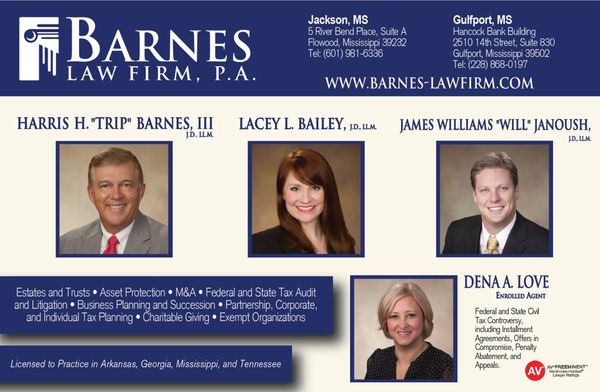 Barnes Law Firm, PA - Business Law - 5 River Bend Pl, Flowood, MS