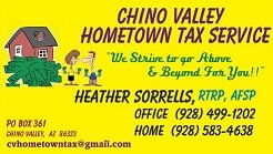 Chino Valley Hometown Tax Service: 110 W Center St, Chino Valley, AZ