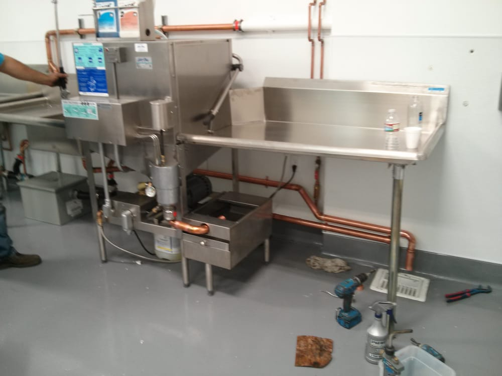 Commercial Dishwasher Installed Continued From Picture 2