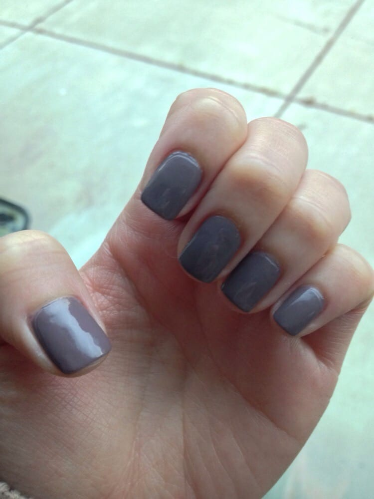 Manicure air dried for 10 minutes, then Demert Nail Enamel dry spray ...