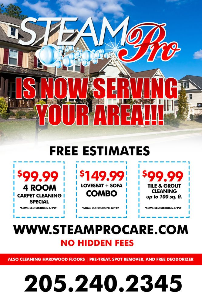 Steampro Carpet & Upholstery Cleaning
