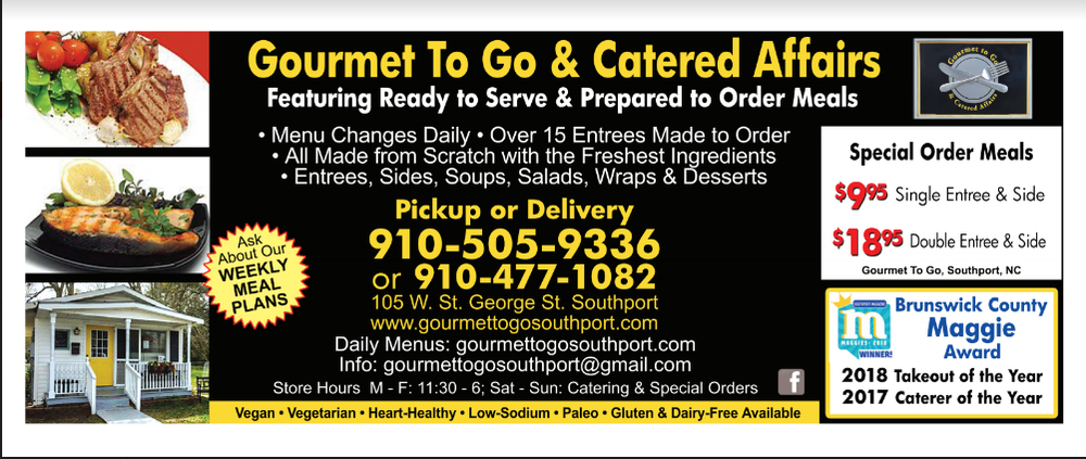 Gourmet to Go & Catered Affairs: 105 W St George St, Southport, NC