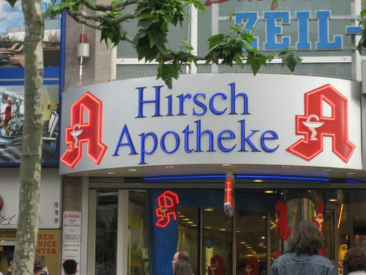 hirsch apotheke pharmacy zeil 111 innenstadt frankfurt hessen germany yelp. Black Bedroom Furniture Sets. Home Design Ideas