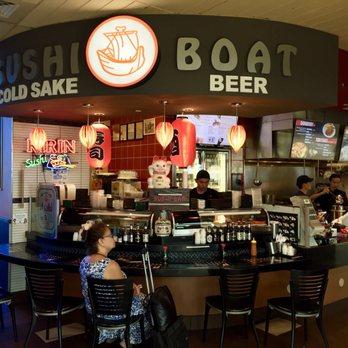 Sushi Counter At Sushi Boat Restaurant At The San Jose