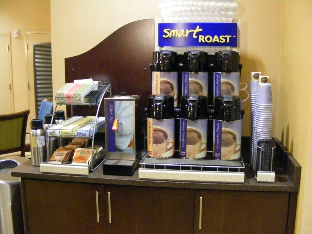 smart roast coffee station at the holiday inn express yelp. Black Bedroom Furniture Sets. Home Design Ideas