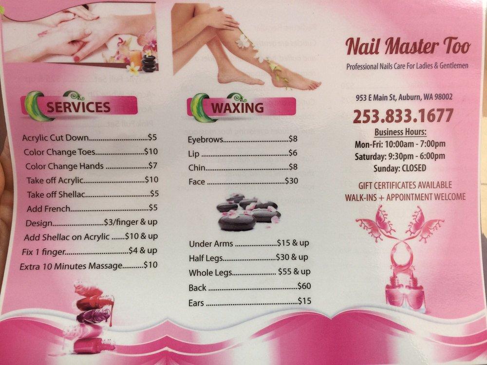 Nail Master 2: 953 E Main St, Auburn, WA