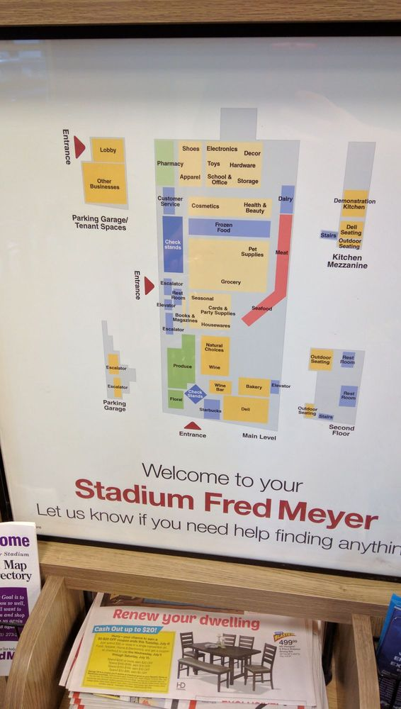 Photo Of Fred Meyer   Portland, OR, United States. Store Directory And  Layout