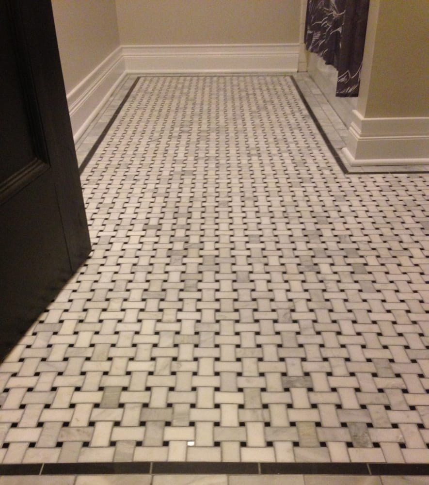 Mmw marble floor with basket weave inlay and double border yelp photo of mww painting chicago il united states mmw marble floor with dailygadgetfo Images
