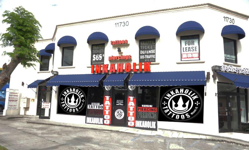 Inkaholik Tattoos & Piercing - North Miami: 11730 Biscayne Blvd, Miami, FL