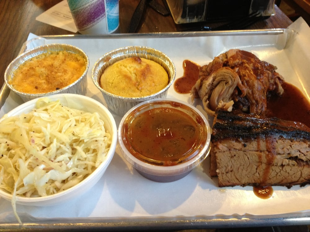 2 meat platter pulled pork sliced beef brisket w slaw for Jj fish and chicken chicago il