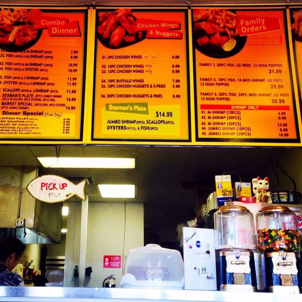 Store front menu yelp for Fish store san diego