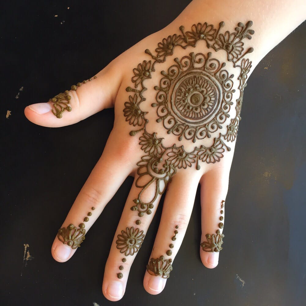 Henna Tattoo Kits For Eyebrows: Mandala Hand Piece
