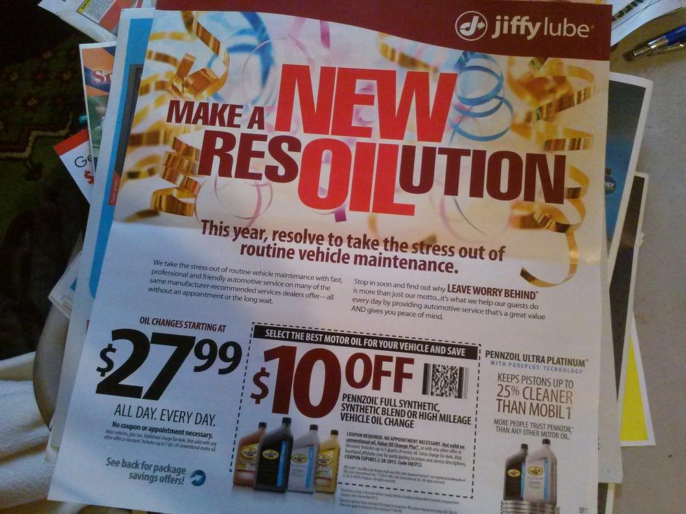 Jiffy lube oil change coupon ny