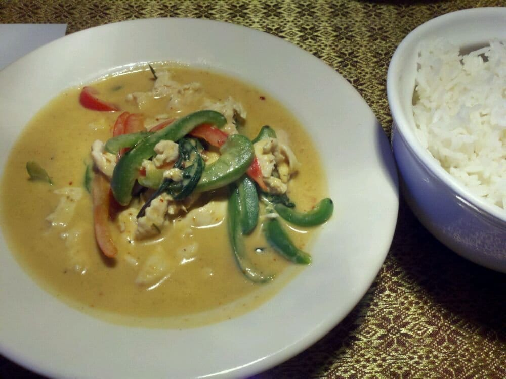 Chicken panang and rice yelp for 24 star thai cuisine
