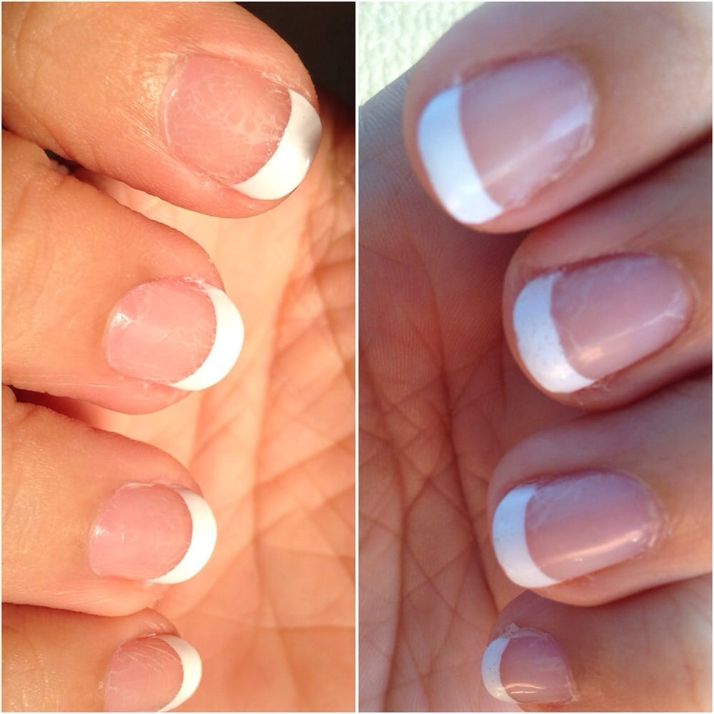 12 hrs after nail polish application: air bubbles, cracking ...