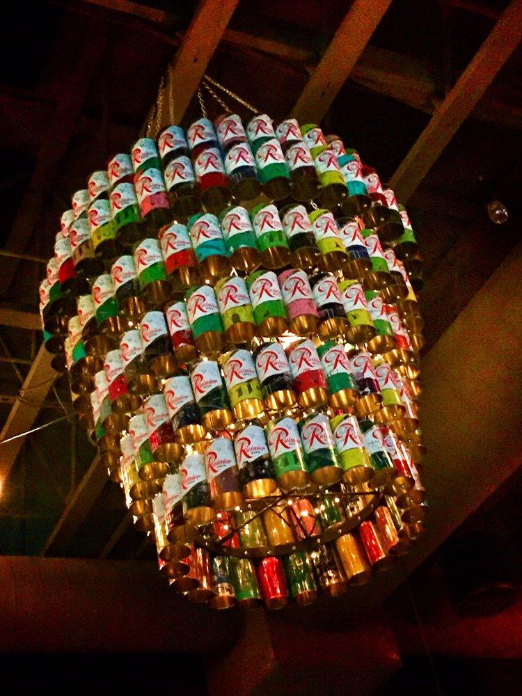 Photo of Sam's Tavern - Redmond, WA, United States. Rainier chandelier!