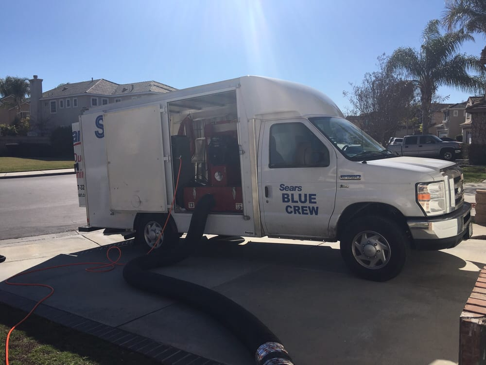 sears hvac truck monday morning service p yelp