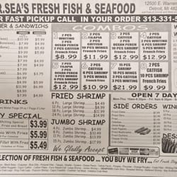 Mr sea s fresh fish seafood seafood markets 12500 e for Fresh fish company menu