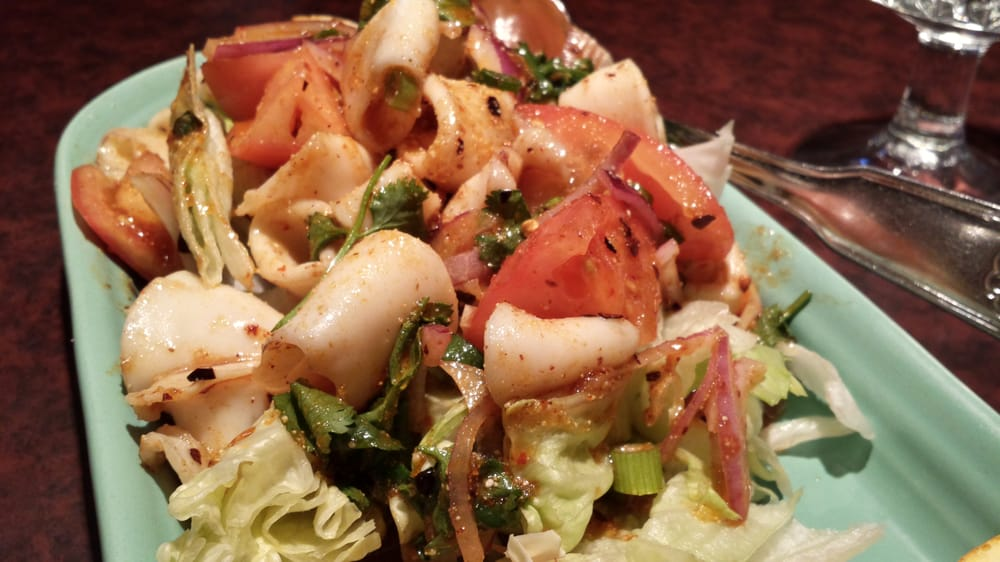 Calamari salad yelp for Ayothaya thai cuisine puyallup
