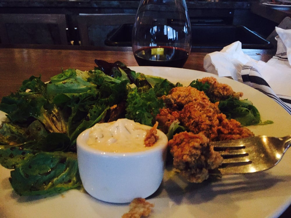 Fried oysters and delicious salad yelp for Pickled fish long beach wa