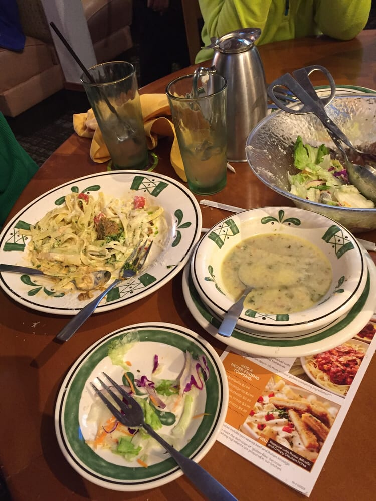Never ending pasta bowl yelp for Olive garden endless pasta bowl