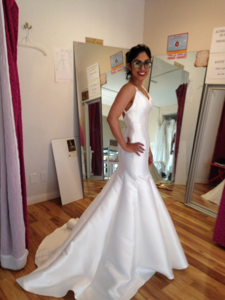 Her wedding gown was already altered by Mom Ami Bridal. She sent to ...