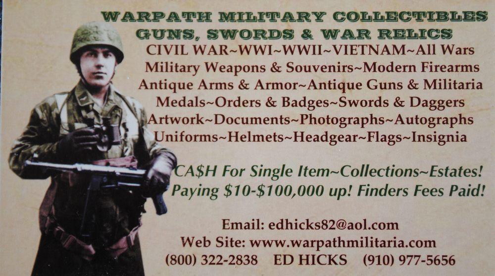 Warpath Military Collectibles & Guns - 104 Photos - Antiques