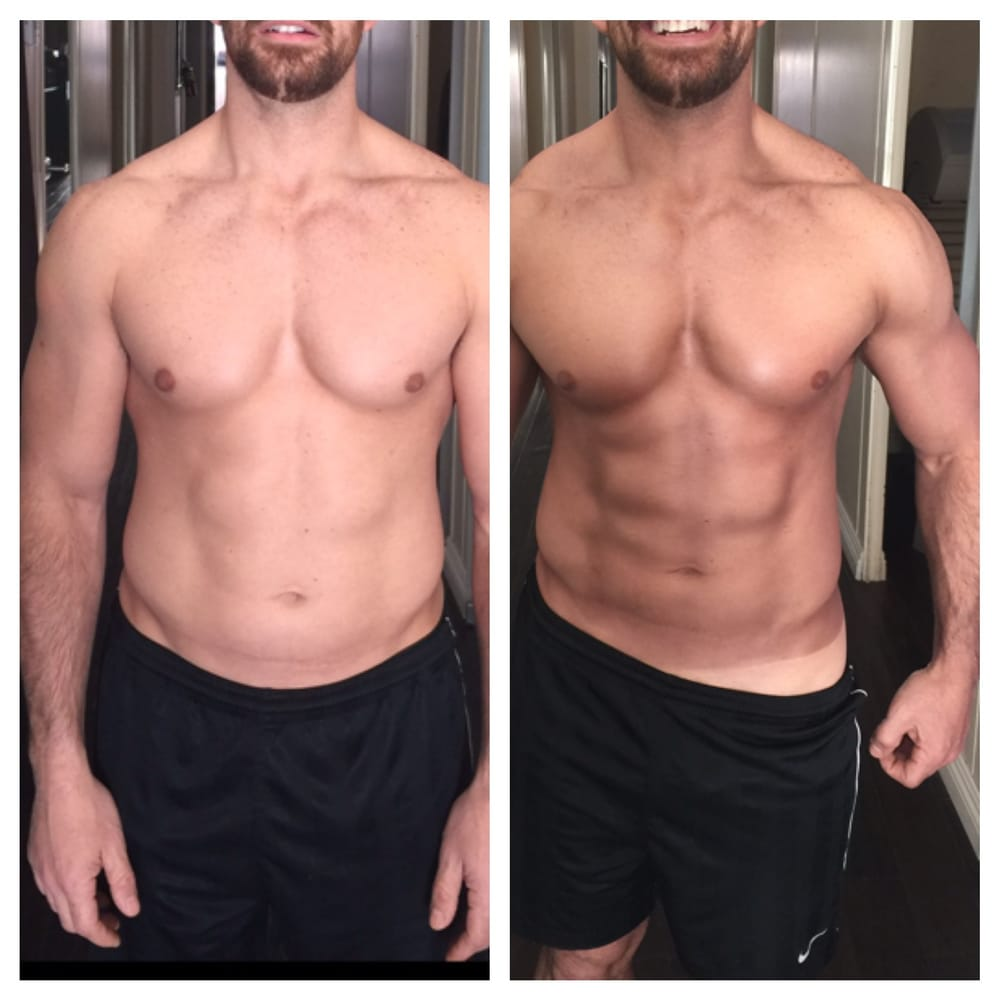 Male Before & After - Custom Spray Tanning w/ Body