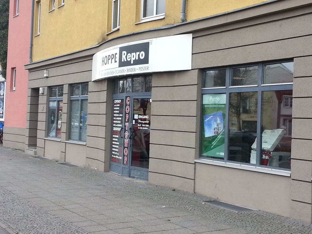 hoppe repro geschlossen druckerei copyshop am juliusturm 105 spandau berlin. Black Bedroom Furniture Sets. Home Design Ideas