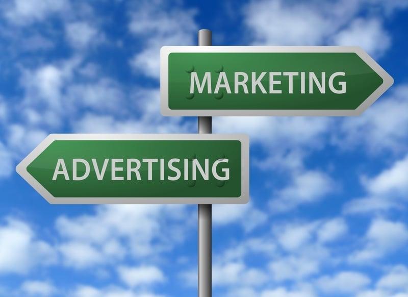 Image result for Advertising vs. MARKETING