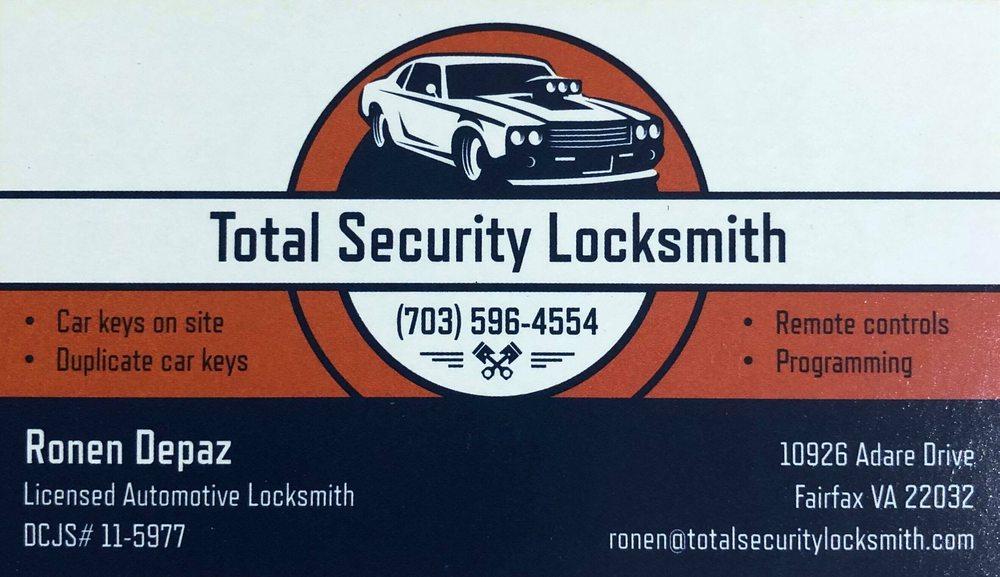 Total Security Locksmith: 10926 Adare Dr, Fairfax, VA