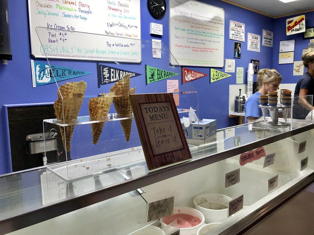 Ice Cream Peddlers: 141 River St, Elk Rapids, MI