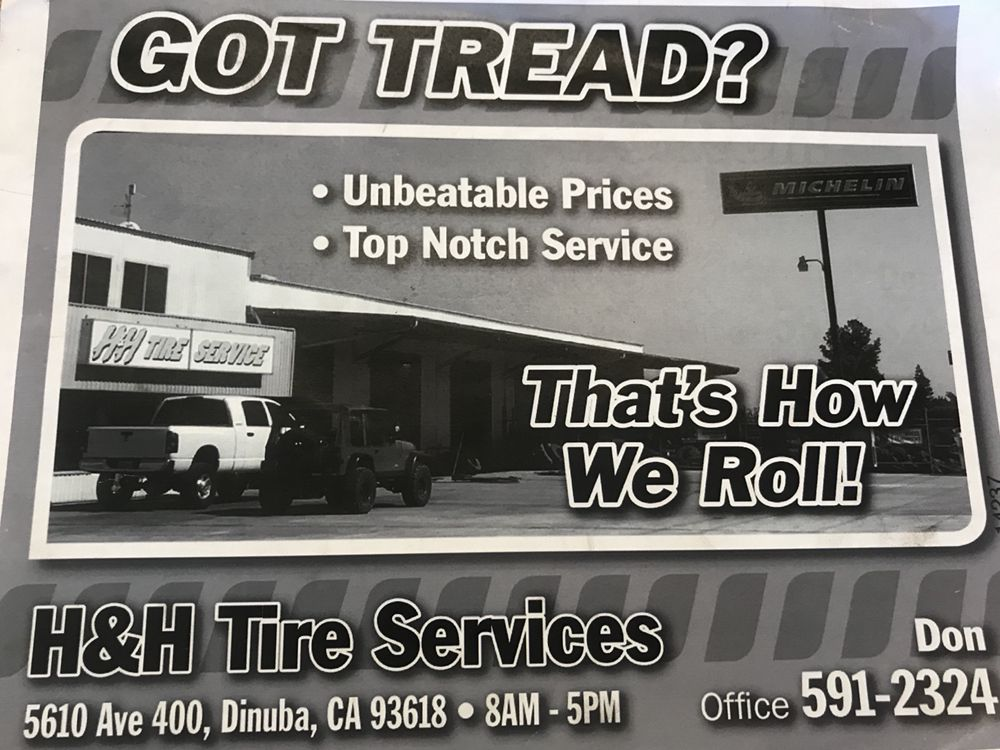 H & H Tire Service: 5610 Ave 400, Dinuba, CA