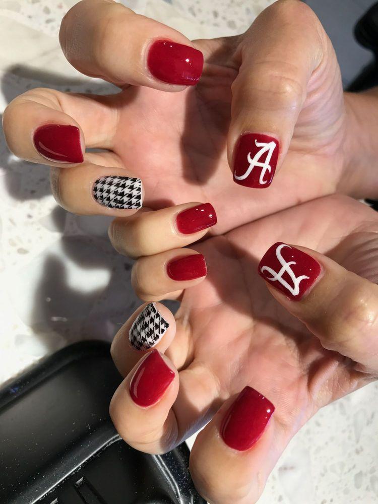 Awesome Alabama Crimson Tide nails! - Yelp